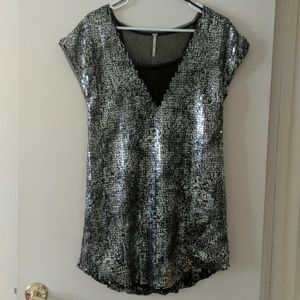 Free People Sequin Mini Dress/Tunic